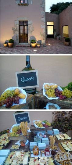 Buffet de quesos, aspic catering, Can mora de dalt.