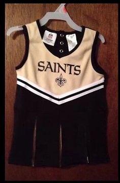 Cheerleader Uniform Set Toddler 2T Louisiana New Orleans Saints LSU Tigers NWT