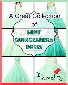 "Mint Quinceanera dress - You're the ""belle of the ball, and all eyes will be on you, for this reason we've some pointers regarding how to pick the ideal Quinceanera dress for you. Mint Quinceanera Dresses, Quinceanera Party, Sweet Sixteen Dresses, Pointer Puppies, Dream Party, Quince Dresses, Dress For You, Pink Dress, Cute Dresses"