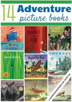 Adventure Picture Books for Kids Go on an adventure with your kids! Picture books for reading aloud.Go on an adventure with your kids! Picture books for reading aloud. Preschool Books, Book Activities, Books For Boys, Childrens Books, Good Books, Books To Read, Kids Reading, Reading Lists, Reading Books
