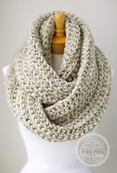 Oversized+knit+scarf+oversized+chunky+infinity+by+PikaPikaCreative,+$75.00