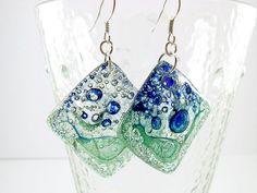 Recycled CD earrings