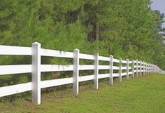 Our Hamptons style dream home at the beach - white post and rail fence