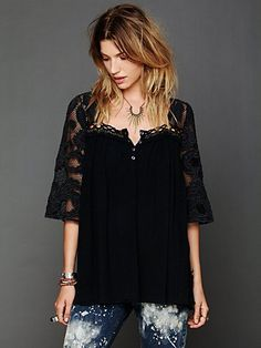Free People Cutwork Tunic at Free People Clothing Boutique