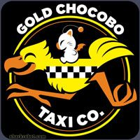 Gold Chocobo Taxi Co , need this shirt!