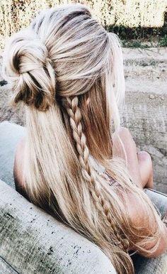 Date night hairstyle hairstyles/date night hairstyles/first date hairstyles/pony tails/curly hair/hairstyles for long hair/hairstyles for medium lengt. Date Hairstyles, Braided Hairstyles, Boho Hairstyles Medium, Trendy Hairstyles, Easy Everyday Hairstyles, Bohemian Hairstyles, Long Haircuts, Wedding Hairstyles, Evening Hairstyles