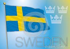 Vector file and illustration swedish flag