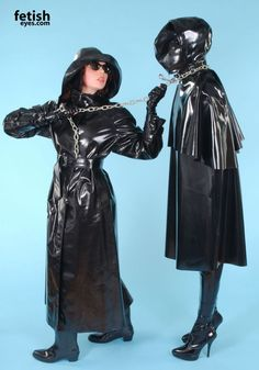 Oh the sun is so hot today. We shall have a lovely walk in the sun today. No need for sun cream sissy Julia. Black Raincoat, Mens Raincoat, Latex Suit, Sexy Latex, Mode Latex, Rubber Catsuit, Rubber Raincoats, Latex Hood, Girl Tied Up
