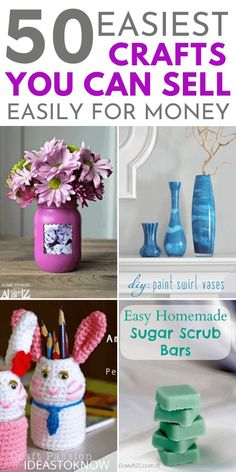 Easy Crafts To Sell, Money Making Crafts, Diy Crafts For Kids, Fun Crafts, Craft Ideas, Wine Bottle Centerpieces, Thrift Store Crafts, Do It Yourself Crafts, Cool Diy Projects