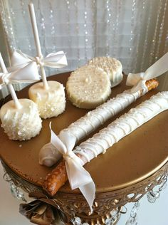 Glam Wedding Collection Edible Favors Frost The Cake. $23.00, via Etsy.