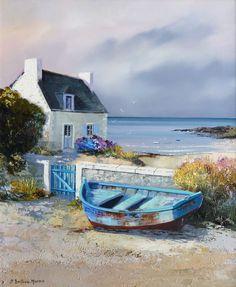 """Search results for """"Jean-Pierre Bertaux-Marais"""" - Watercolor Watercolor Landscape, Landscape Art, Landscape Paintings, Watercolor Paintings, Watercolour, Boat Art, Boat Painting, Seascape Paintings, Pictures To Paint"""