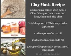 clay mask recipe to clarify, detox and deeply condition curly and kinky natural hair Curly Hair Tips, Natural Hair Tips, Curly Hair Styles, Natural Hair Styles, Protective Hairstyles, Diy Hairstyles, Diy Hair Mask, Hair Masks, Make Up Tricks