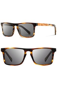 Free shipping and returns on Shwood 'Govy' 52mm Polarized Wood Sunglasses at Nordstrom.com. Angular, contemporary frames sculpt bold sunglasses crafted from genuine wood and premium Italian acetate for a touch of earthy brilliance. Smart polarized lenses complete the Portland-made package.