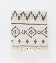 Turkish Kilim Throw Blanket - Ecru from Truck & Barter // www.truckandbarter.co