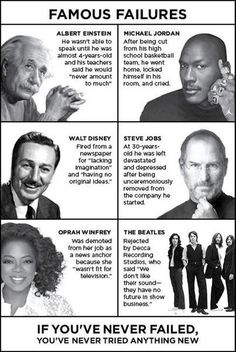 Inspirational people with inspiring quotes.
