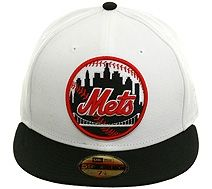 New Era 2Tone New York Mets Patch Fitted Hat - White 358f7a8e3132