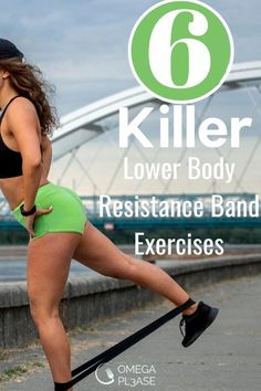 Take a look at these 6 lower body resistance band exercises. These resistance band exercises for weight loss tighten and sculpt your legs. They are especially great resistance band exercises for glutes. Try these easy resistance band exercises now and build your butt! #resistancebandexercises #resistancebandexercisesforweightloss #resistancebandexercisesforglutes #easyresistancebandexercises #lowerbodyresistancebandexercises Posterior Chain Exercises, Resistance Band Exercises, Bridge Workout, Easy At Home Workouts, Thigh Muscles, Weight Loss Workout Plan, Weight Loss Transformation, Lose Belly Fat, Hiit