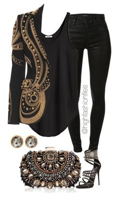 """Untitled #2010"" by highfashionfiles ❤ liked on Polyvore featuring Lipsy, J Brand, Helmut by Helmut Lang, Giuseppe Zanotti and Emilio Pucci"