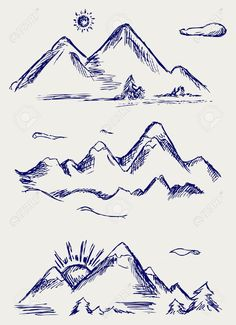 mountain simple drawing drawings sketch peaks tattoo range doodle various mountains easy outline silhouette google tattoos doodles airplane line sketches