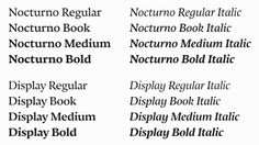Nocturno & Nocturno Display | Slanted - Typo Weblog und Magazin