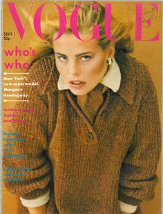 Vogue September 1975 COVER: ToscaniMODEL: MargauxHemingway