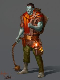 Brahgis The Earth Genasi by ackelb