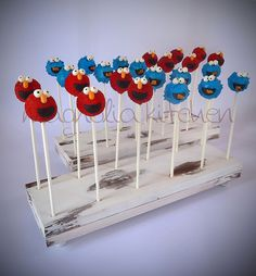 Sesame Street Cakepops by Magnolia Kitchen, via Flickr