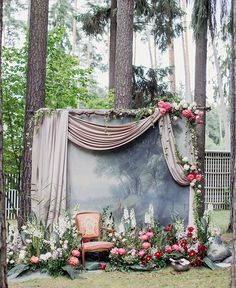 Oh-so-romantic wedding installation that made our hearts skip a beat! Suitable for an outdoor wedding, we are majorly impressed with this setup: from dreamy backdrop, luscious floral and greenery arrangement, to delicate draping; all tied up into an ethereal and captivating spot for your guests to strike a pose! Such a work of art! Who's inspired? Show some love and tag a friend!  Wedding Planner /caramelwedding/ / Decoration @mezhdu_nami_ / Photography /foter/
