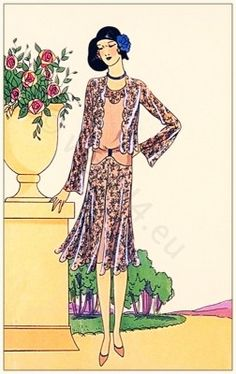 Art deco costume by Couturier Nanteuil 1929