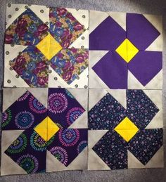 Heres 4 Violet blocks for this months lotto! Good luck to all!!
