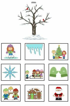 Seasons Activities, Activities For 2 Year Olds, Winter Activities For Kids, Brain Activities, Preschool Education, Paper Crafts For Kids, Diy Projects To Try, Pre School, School Projects