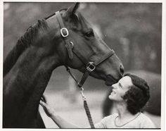 Riva Ridge with hotwalker Steve Jordan. What a gorgeous head . One of the greats that didn't get nearly enough credit.