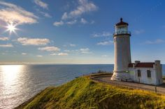Beautiful shot from our Facebook fan Jim Stiles! (North Head Lighthouse in Ilwaco, WA)