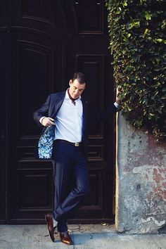 A groom's suit with a flash of pattern on the inside   @marcelapolo   Brides.com