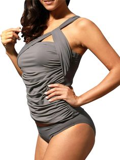 be31f92053c Dellytop - Women Summer One Shoulder Skinny Swimsuit Bathing Suit -  Walmart.com