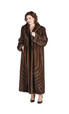 Product review for Madison Avenue Mall Long Mink Coat For Women Plus Size - Soft Brown Brushstrokes Design.  - A work of art created in mink with this beautiful brushstroke design sweeping up and across the body of this stunning mink coat.The soft yet rich brown color of the mink is enhanced by the workmanship of this graceful coat, that will be enjoyed for its elegance and flair! This is a make to order...