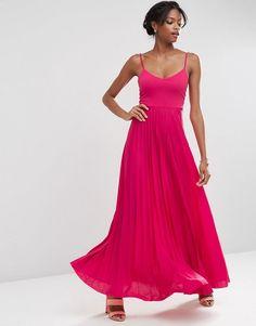 ASOS | ASOS Cami Maxi Dress with Pleated Skirt at ASOS