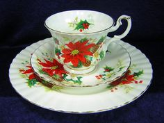 Royal Albert China Trio Poinsettia