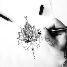 Unalome lotus - Mandala armpiece
