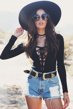 nice Nayah Lace-Up Bodysuit - Black by  http://www.globalfashion.top/festival-outfits/nayah-lace-up-bodysuit-black/