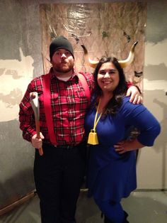 halloween costumes couplescostumes paul bunyan and babe the blue ox