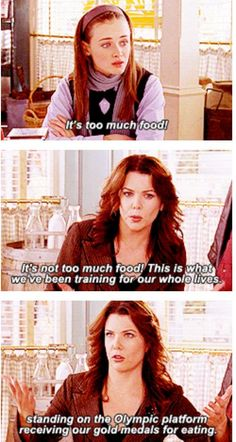 "Guide To Hosting The Ultimate ""Gilmore Girls"" Thanksgiving And there you have it. You are officially ready to feast! You are officially ready to feast! Best Tv Shows, Best Shows Ever, Favorite Tv Shows, Movies And Tv Shows, Stars Hollow, Team Logan, Gilmore Girls Quotes, Girlmore Girls, Lorelai Gilmore"
