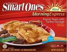 Weight Watchers Smart Ones Smart Beginnings French Toast with Turkey Sausage, oz Weight Watchers Smart Ones, Weight Watchers Meals, Healthy Fats, Healthy Choices, Smuckers Uncrustables, Honey Chicken Kabobs, Turkey Sausage, Extreme Diet, Printable Coupons