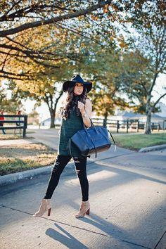 OCTOBER 10, 2016 Early Fall Weekends - TURTLENECK SWEATER: John & Jenn | DENIM: AG Jeans | HAT: old via Brixton | SHOES: Sam Edelman | BRACELETS: David Yurman, BaubleBar | HANDBAG: Celine