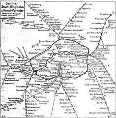 Streckenplan 1932-Berliner Ring-Stadt u-Vorortverkehr