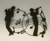 Wanddecoratie Jazz muzikanten