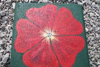 Red Petunia Stepping Stone