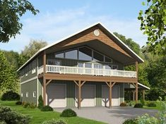 Three Bedroom Carriage House or Mountain Home - 35513GH | Carriage, Mountain, Northwest, Vacation, Metric, Narrow Lot, 2nd Floor Master Suite, CAD Available, PDF, Sloping Lot | Architectural Designs