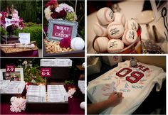 Favors, decor, seating, guest book. I'd definitely change it to football.