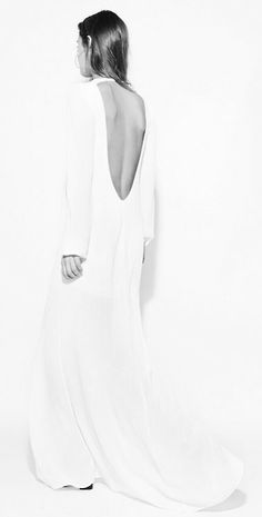 Minimal and Classic: white dress with deep back